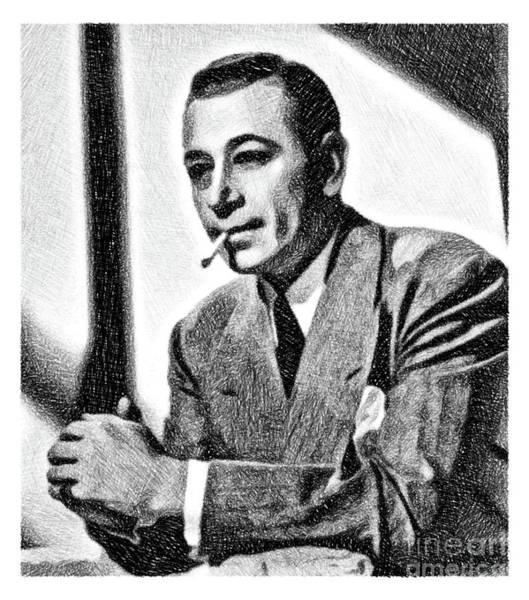 Raft Wall Art - Drawing - George Raft, Vintage Actor By Js by John Springfield