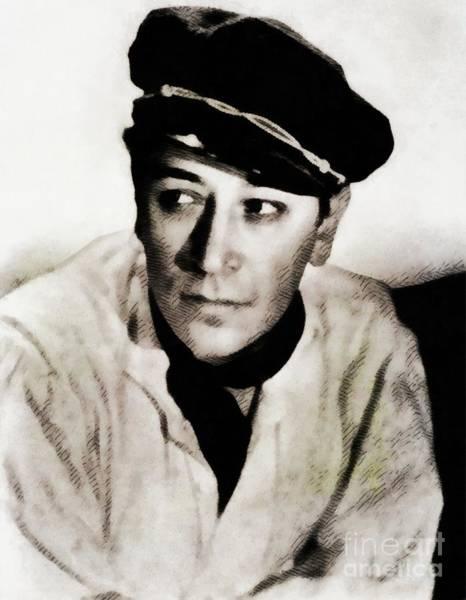 Raft Wall Art - Painting - George Raft, Vintage Movie Star by John Springfield