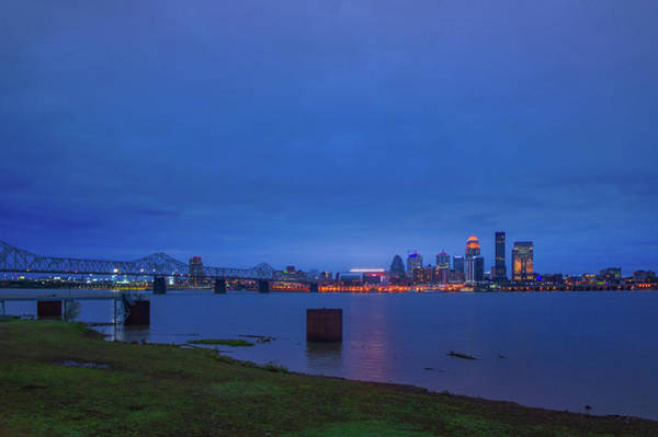 Wall Art - Photograph - George Rogers Clark Memorial Bridge And Louisville, Kentucky Skyline by Art Spectrum