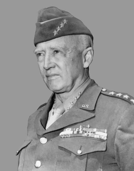 U S Painting - George S. Patton by War Is Hell Store