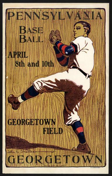 Wall Art - Mixed Media - George Town - Baseball - Pennsylvania - Vintage Advertising Poster by Studio Grafiikka