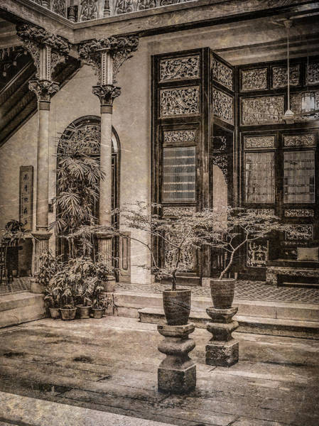 Photograph - George Town, Penang, Malaysia - Courtyard Of The Blue Mansion, Silverplate by Mark Forte