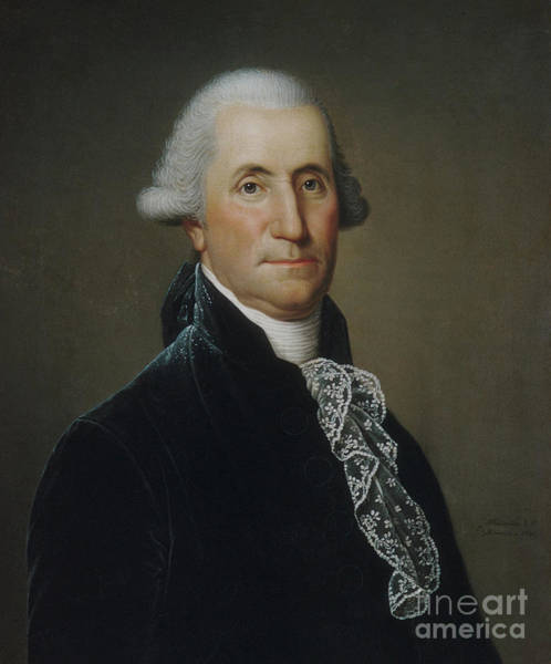 Wall Art - Painting - George Washington, 1795 By Wertmuller by Adolf Ulrich Wertmuller