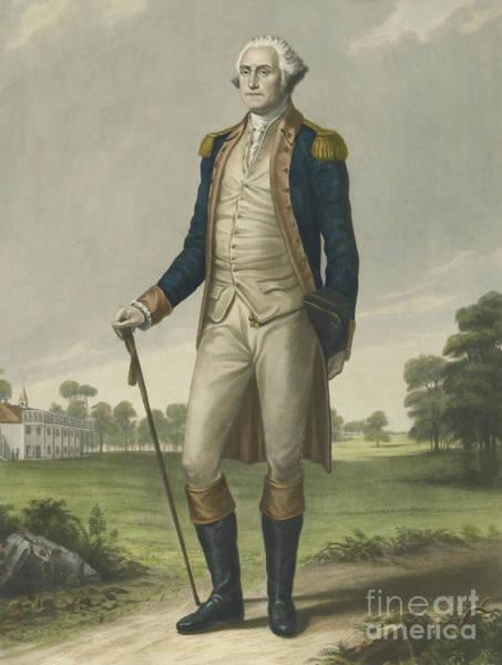 Congress Painting - George Washington, 1859 by Hezekiah Wright Smith