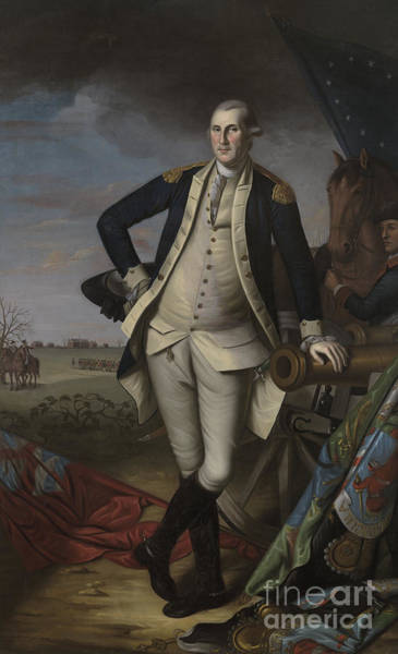 Wall Art - Painting - George Washington At The Battle Of Princeton, 1781  by Charles Willson Peale