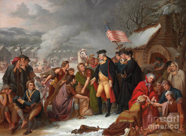 Bonfire Wall Art - Painting - George Washington At Valley Forge by Tompkins Harrison Matteson
