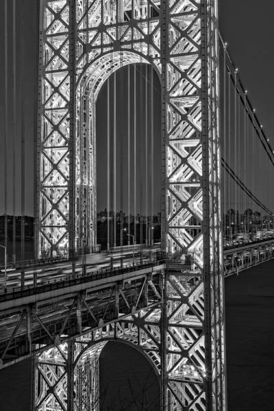 Photograph - George Washington Bridge Gwb Bw by Susan Candelario
