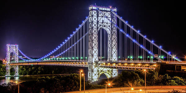 George Washington Bridge - Memorial Day 2013 Art Print