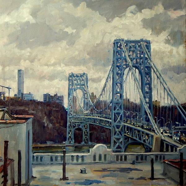 Wall Art - Painting - George Washington Bridge by Thor Wickstrom