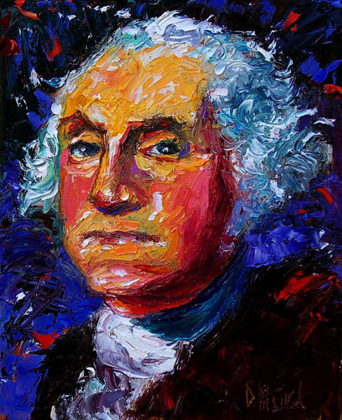 Wall Art - Painting - George Washington by Debra Hurd