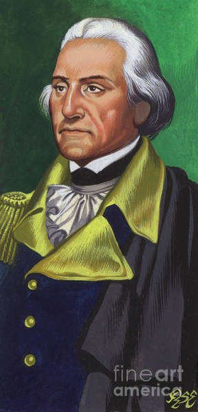 Wall Art - Painting -  George Washington Gouache On Paper by Ron Embleton
