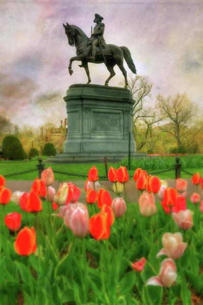 Photograph - George Washington In The Boston Public Garden by Joann Vitali