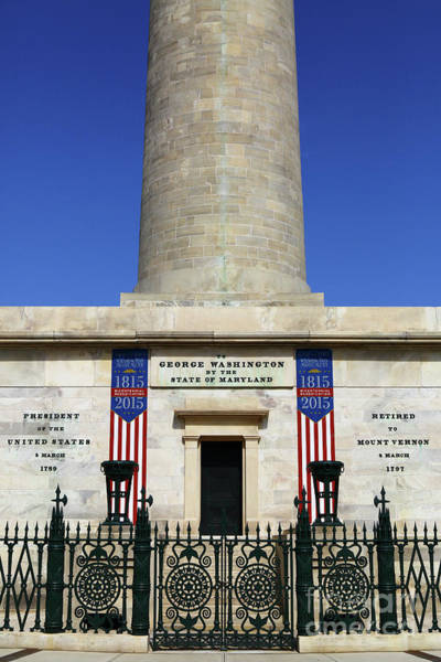 Photograph - George Washington Monument Baltimore by James Brunker