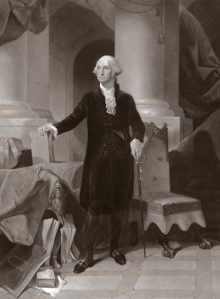 First Drawing - George Washington by Peter Frederick Rothermel