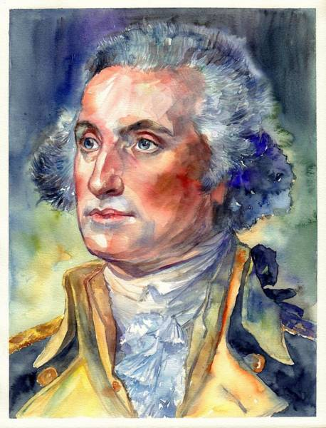 Historic Monument Wall Art - Painting - George Washington Portrait by Suzann Sines