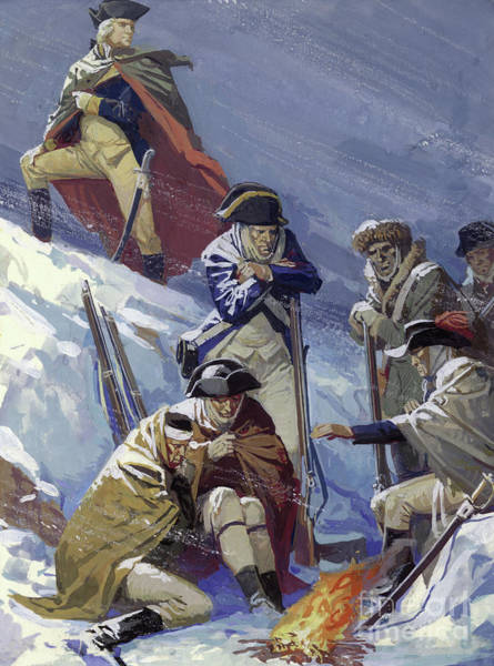 Wall Art - Painting - George Washington, When A General, During The War Of American Independence by Severino Baldini