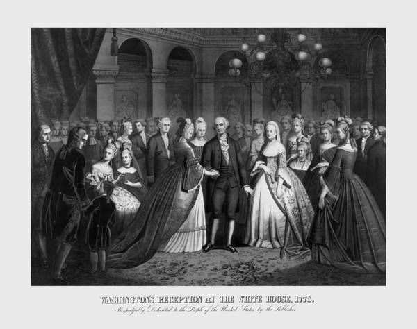 Revolutionary War Mixed Media - George Washington's Reception At White House - 1776  by War Is Hell Store
