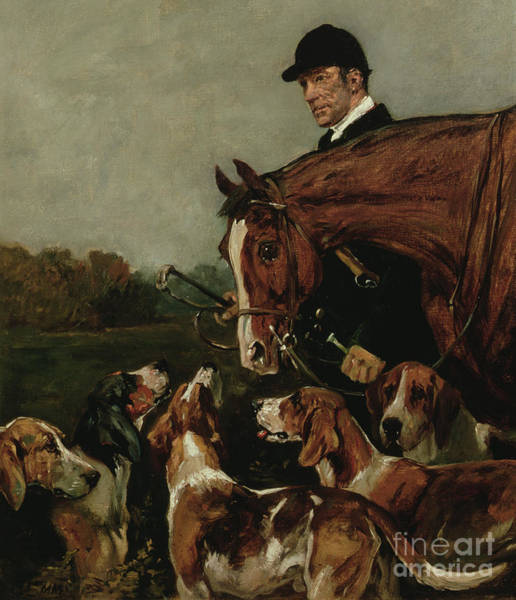 Huntsmen Wall Art - Painting - George Wateridge, Huntsman To The New Forest Buckhounds by John Emms