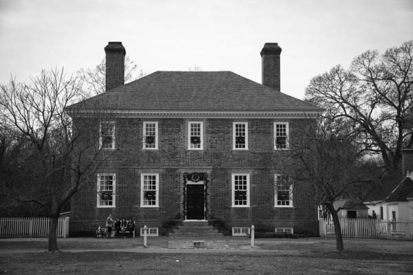 Royal Colony Photograph - George Wythe House Williamsburg B W 2014 by Teresa Mucha