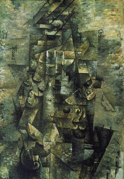 Wall Art - Digital Art - Georges Braque   Man With A Guitar by Mery Moon