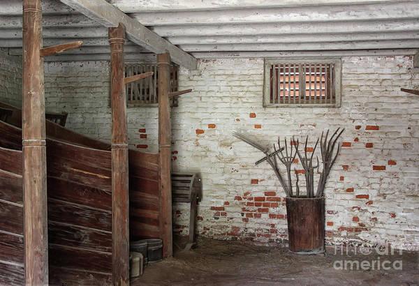 Photograph - George's Horse Barn by Karen Adams