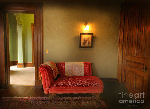 Photograph - George's Red Sofa by Craig J Satterlee