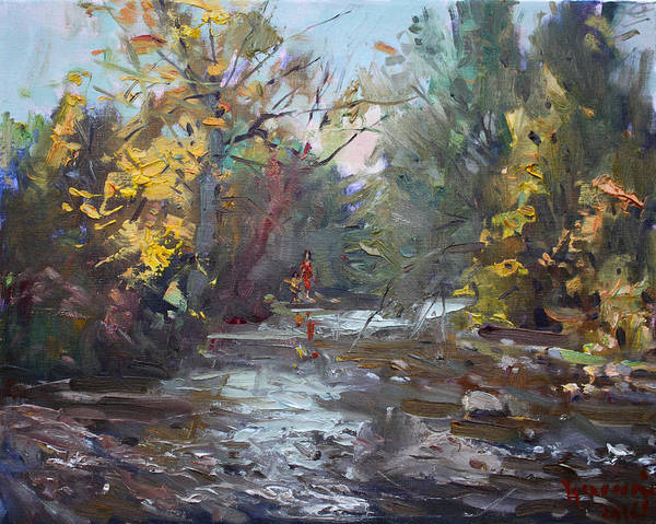 Ontario Wall Art - Painting - Georgetown Fall Colors by Ylli Haruni
