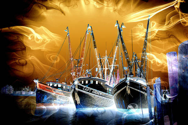 Photograph - Georgetown Fantasy Shrimpers by Bill Barber
