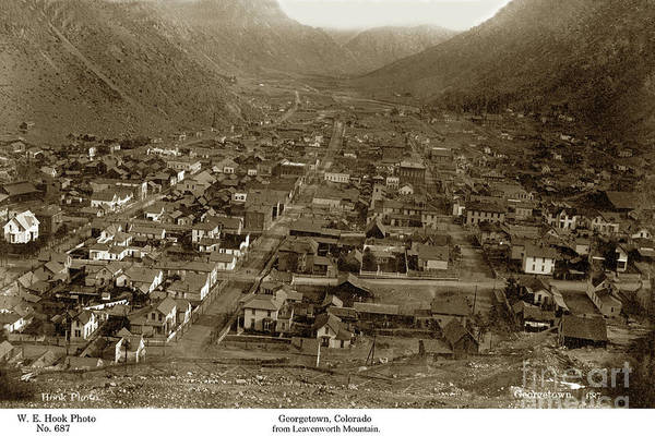 Photograph - Georgetown From Leavenworth Mountain, Colorado Circa 1890 by California Views Archives Mr Pat Hathaway Archives