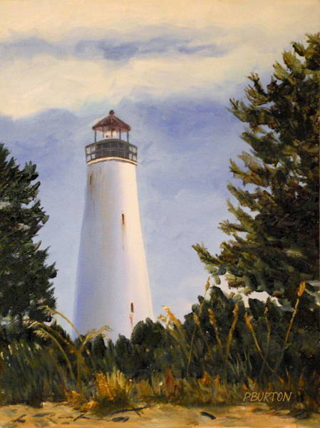Painting - Georgetown Lighthouse Sc by Phil Burton