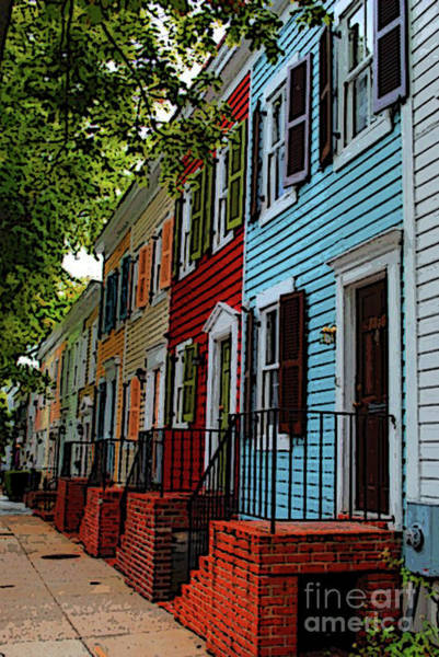 Photograph - Georgetown Shutter Row by Jost Houk