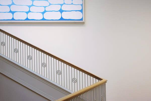 Baluster Wall Art - Photograph - Georgia O'keeffe - Above Stairs by Nikolyn McDonald