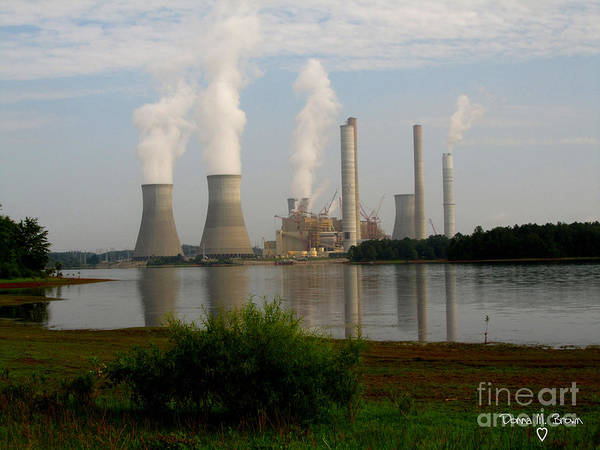 Wall Art - Photograph - Georgia Power Plant by Donna Brown