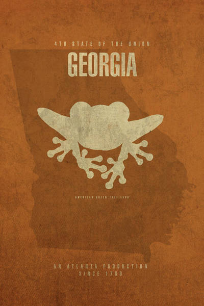 Wall Art - Mixed Media - Georgia State Facts Minimalist Movie Poster Art by Design Turnpike