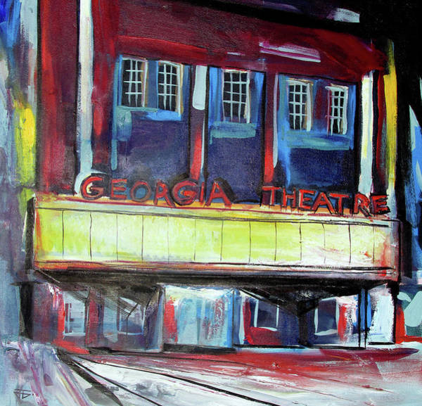 Painting - Georgia Theatre by John Jr Gholson