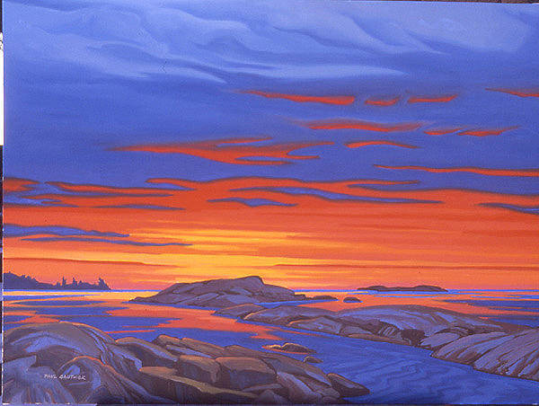 Wall Art - Painting - Georgian Bay Sunset by Paul Gauthier