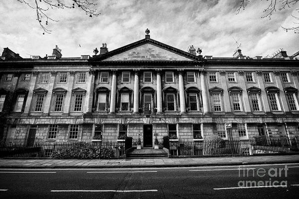 Queens Bath Photograph - Georgian Houses On The North Side Of Queens Square Bath England Uk by Joe Fox