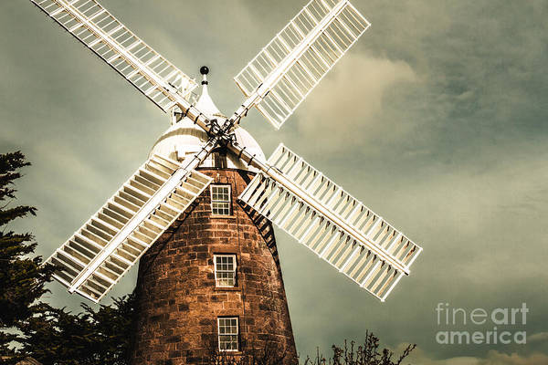 Photograph - Georgian Stone Windmill  by Jorgo Photography - Wall Art Gallery
