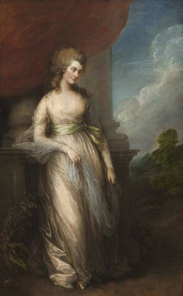 Thomas Gainsborough Wall Art - Painting - Georgiana, Duchess Of Devonshire by Thomas Gainsborough