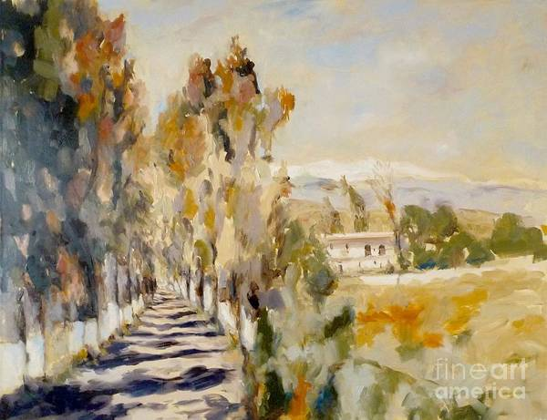 Painting - Georgioupolis Eucalyptus Allee_1 by Karina Plachetka