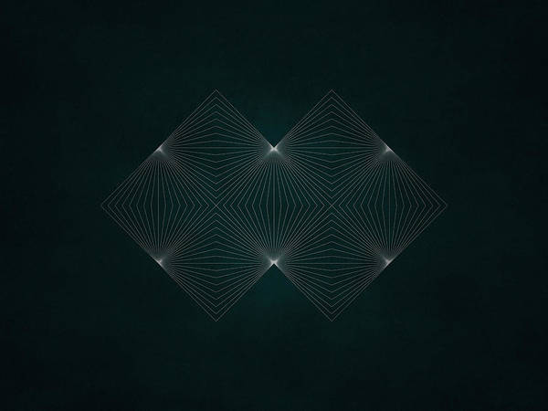 Symmetrical Digital Art - Geosymmetry 4 In 4 by Edouard Coleman