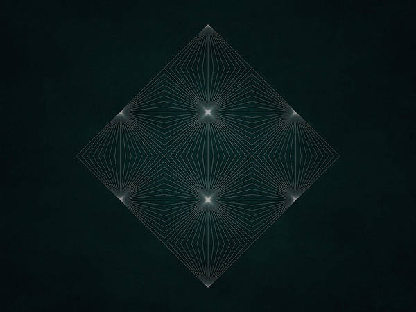 Symmetrical Digital Art - Geosymmetry 5 by Edouard Coleman