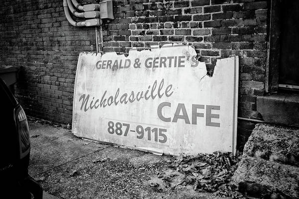 Photograph - Gerald And Gerties Nicholasville Cafe by Sharon Popek