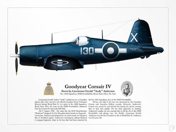 Tribute Digital Art - Gerald Anderson's Corsair Iv by Brendan Matsuyama