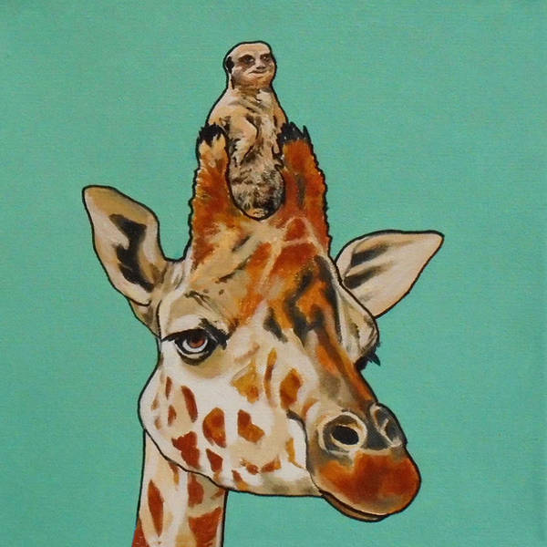 Painting - Gerald The Giraffe by Sharon Cromwell