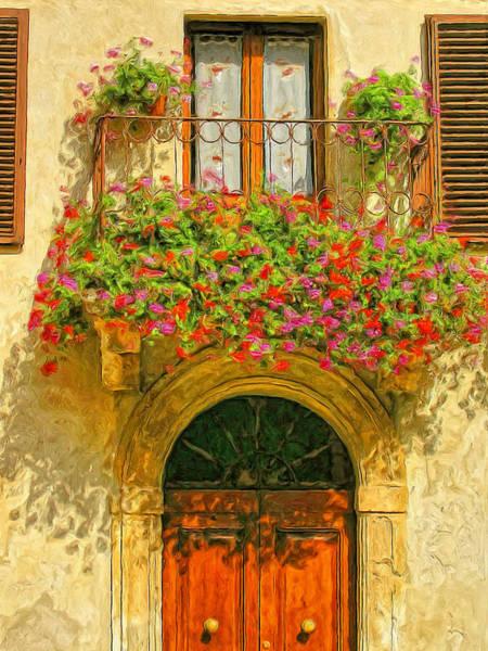 Doorways Painting - Gerani Coloriti by Dominic Piperata