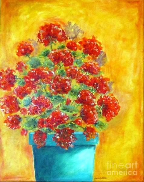 Painting - Geranium by Jeanie Watson