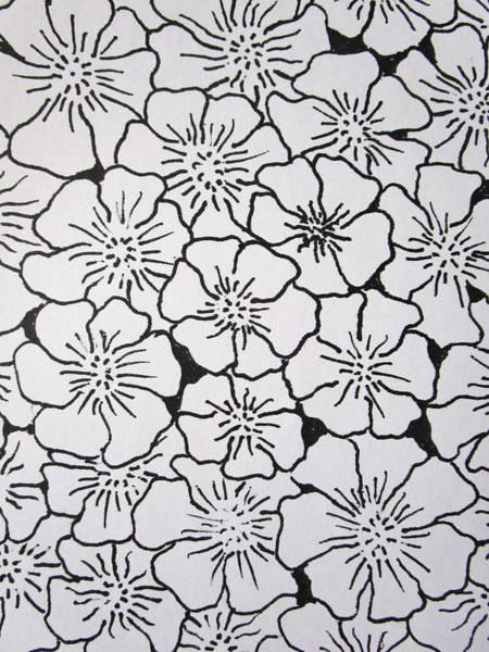 Drawing - Geranium Pattern by Rosita Larsson