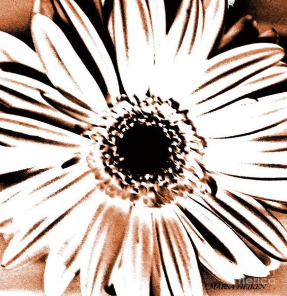 Wall Art - Digital Art - Gerber Abstract Flower Daisy by Marsha Heiken