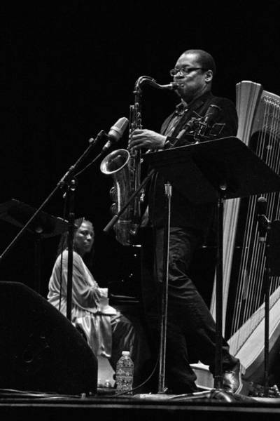 Photograph - Geri Allen And Ravi Coltrane 2 by Lee Santa